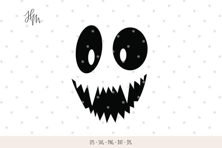 Funny Pumpkin face cut file SVG DXF EPS PNG JPG