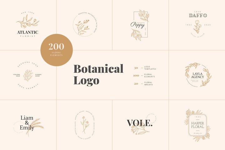 Elegant Botanical Hadn Drawn Logo