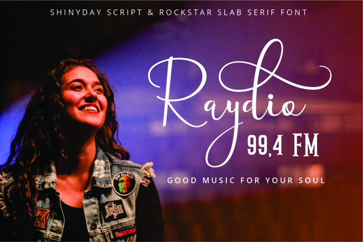 Shinyday & ROCKSTAR font duo - Free Font of The Week Design9