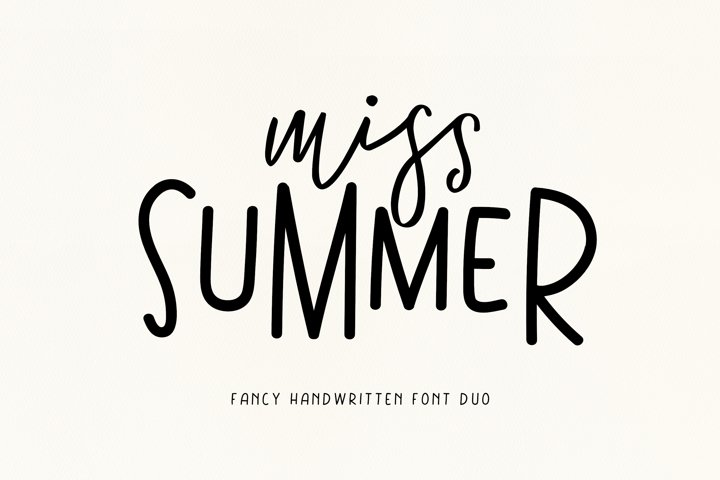 Miss Summer - Handwritten Font Duo