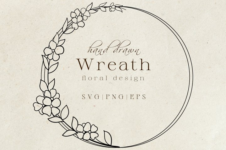 50+ Hand Drawn Wreaths For Crafters Vol 2 PNG