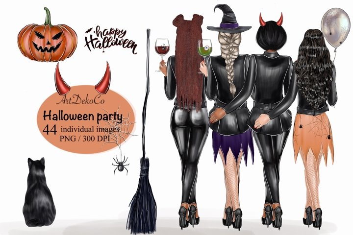 Halloween Custom Printable Clipart Girlfriend