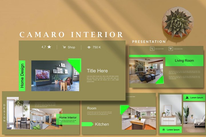 Camaro Home Interior - Powerpoint Template