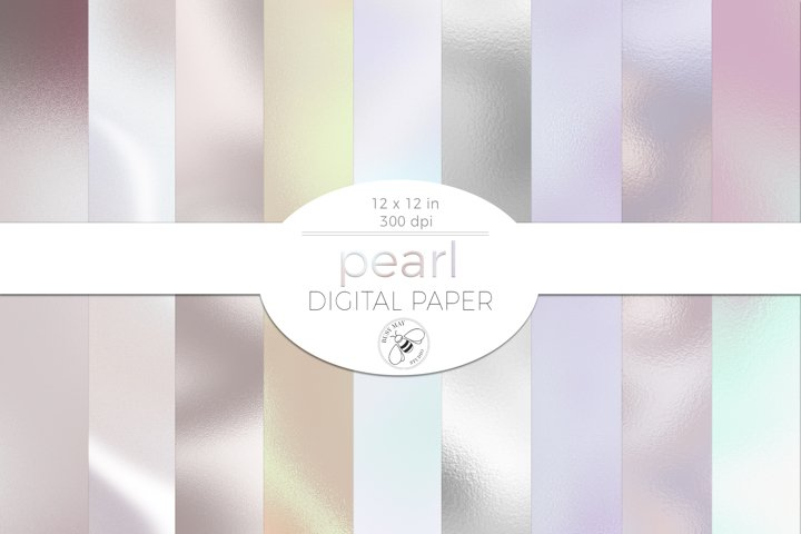 Pearl Texture Digital Paper Pack Shiny Digital Background