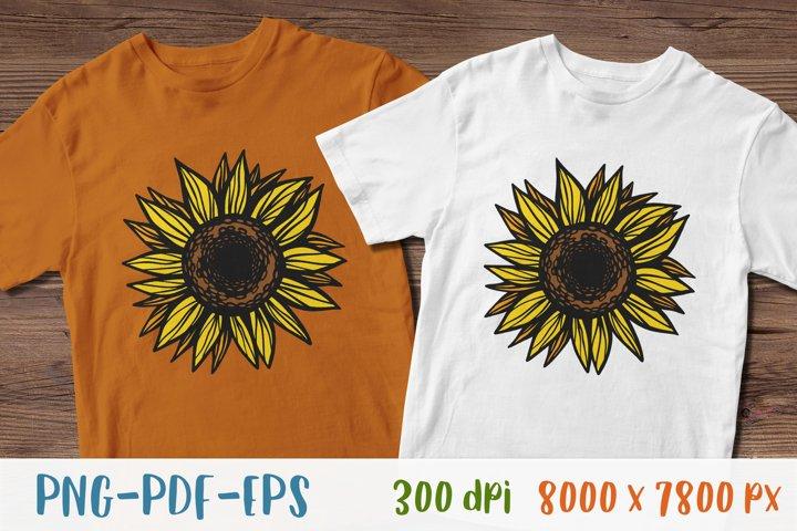 Sunflower PNG Sunflower clipart Sunflower shirt Sublimation