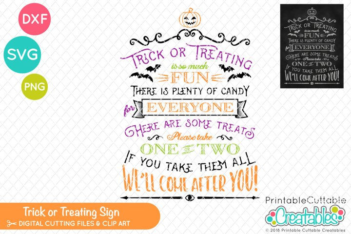 Trick or Treating SVG Sign & Printable