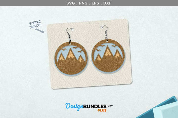 mountains earrings template