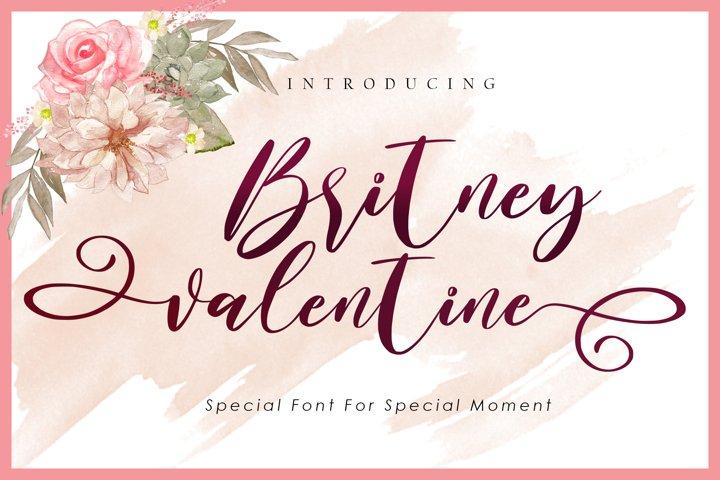 Britney Valentine - WEB FONT