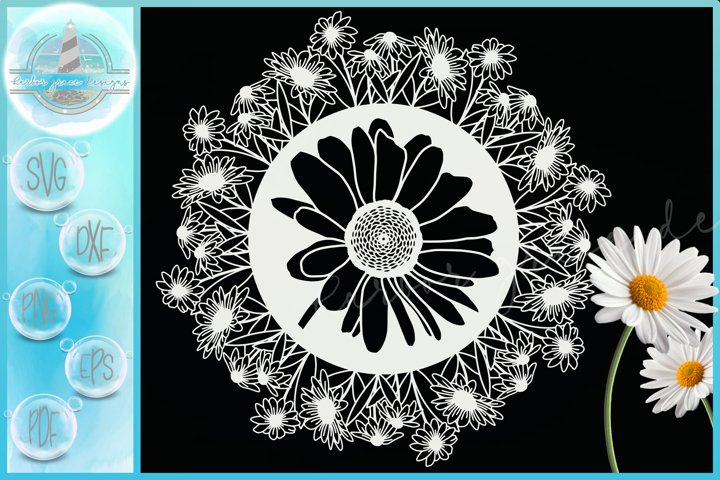 Daisies Daisy Flower Floral Mandala Zentangle SVG