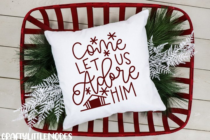 Mini Christmas Bundle - Hand lettered SVG Cut Files example 5