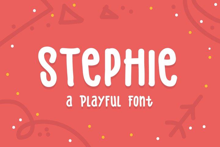 Stephie Typeface - Playful Font