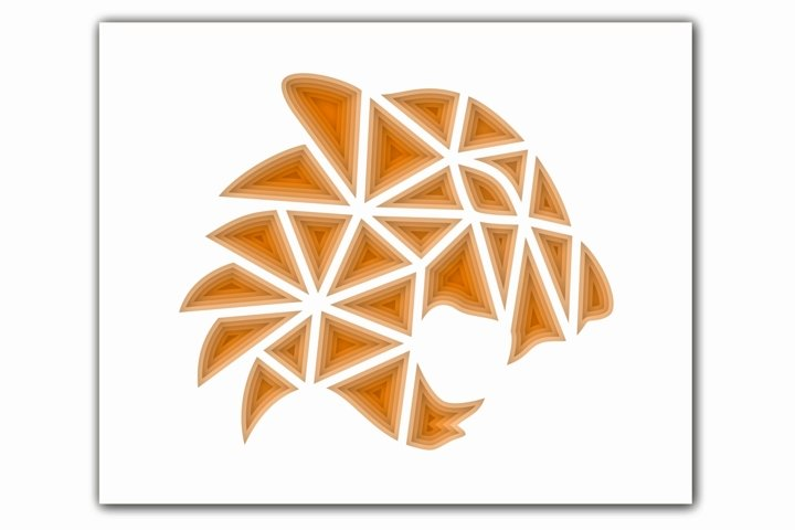 Layered Tiger SVG, Cut file Mandala, 3D Tiger