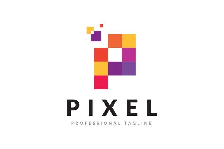 Pixel Logo - P Letter Logo