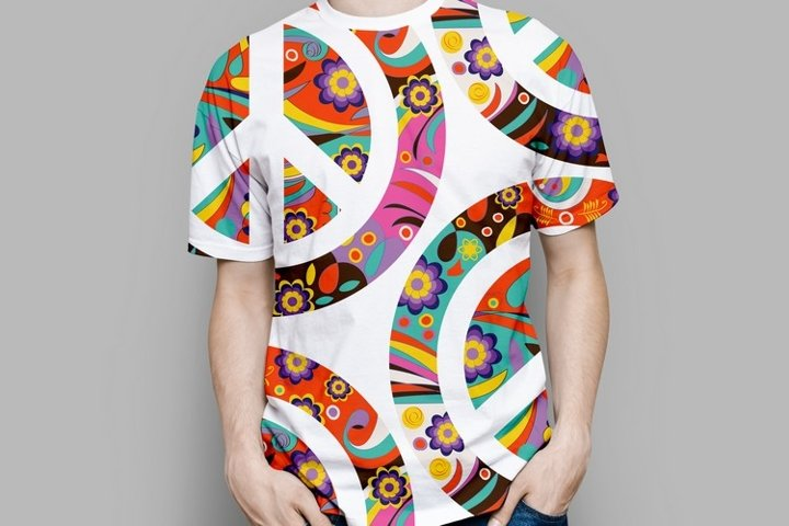 Peace sign, vector and sublimation PNG