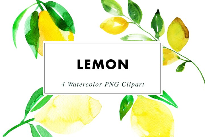 Watercolor Lemons | Clipart PNG Illustrations