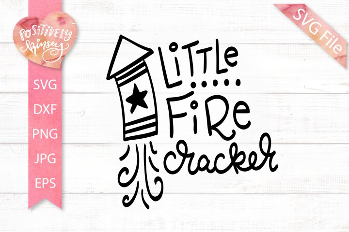 Little Fire Cracker SVG, 4th of July SVG File for Boys, Baby