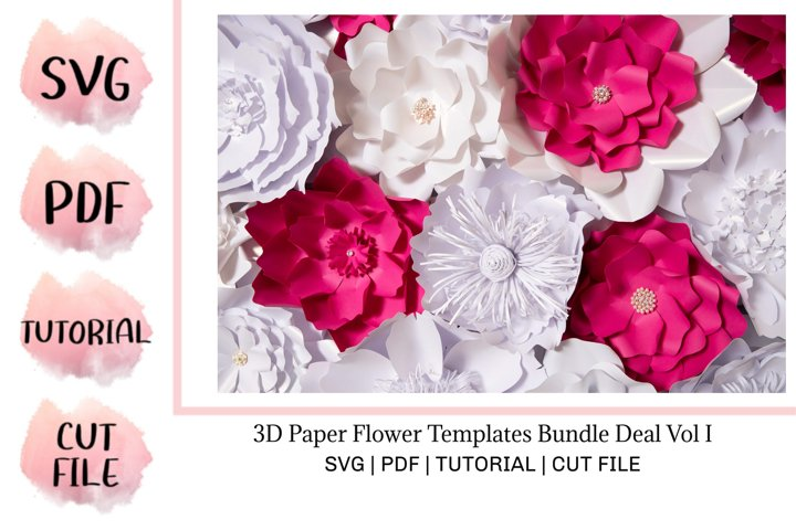 3D Paper Flower Templates Bundle Deal Vol I