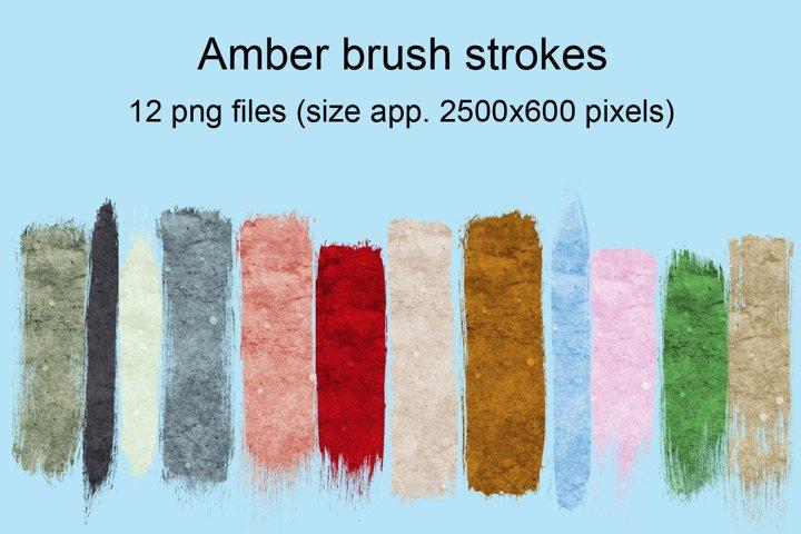 Amber brush strokes