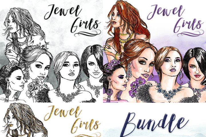 Jewel Girls Clipart