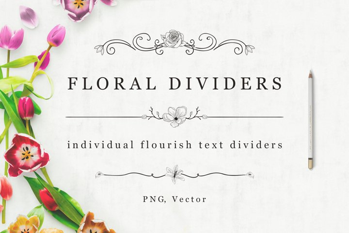 Flourish Dividers & Text Frames example