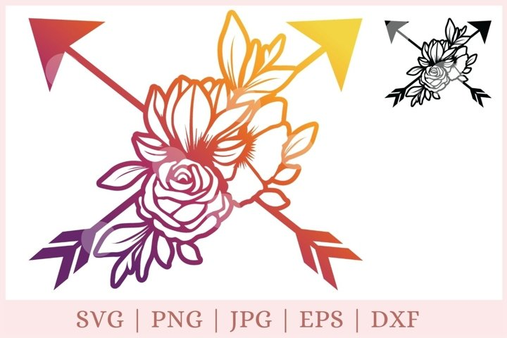 Arrow SVG, arrows with flowers svg