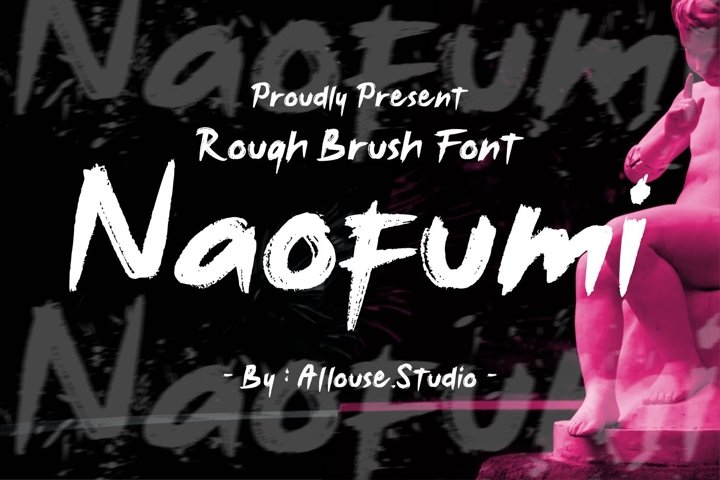 Web font - Noufumi - Rough Brush Font