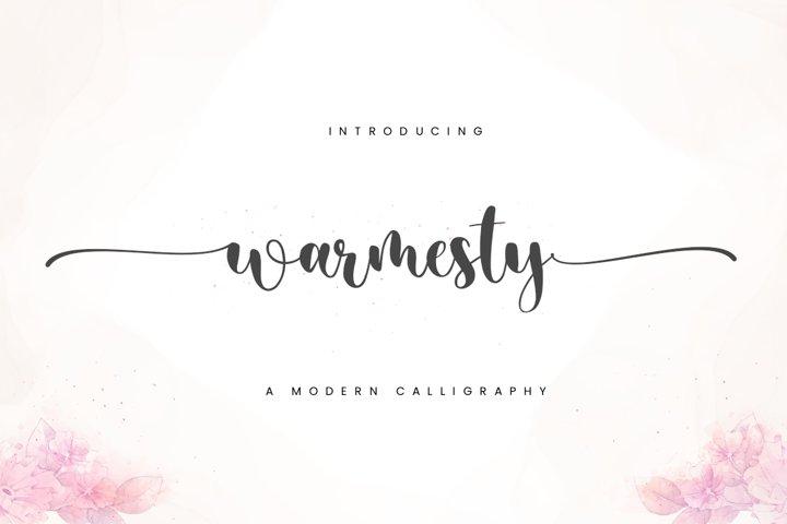 Warmesty - Lovely Font