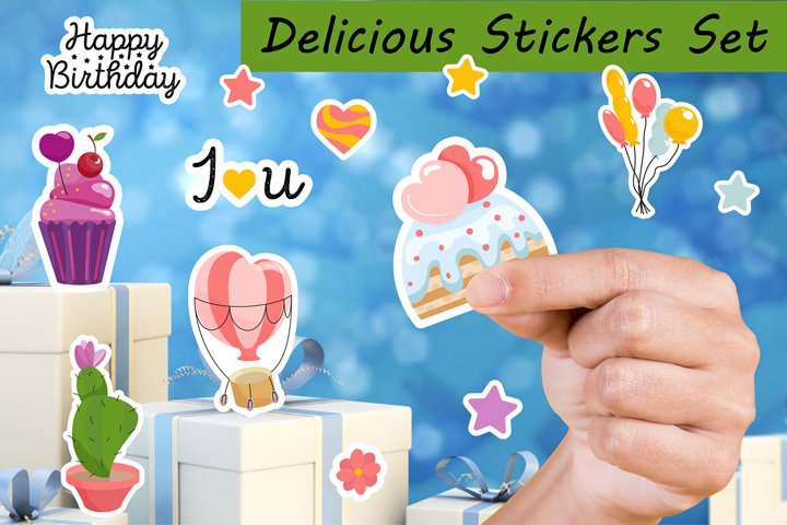 Birthday Stickers | Planner Stickers | Delicious Stickers