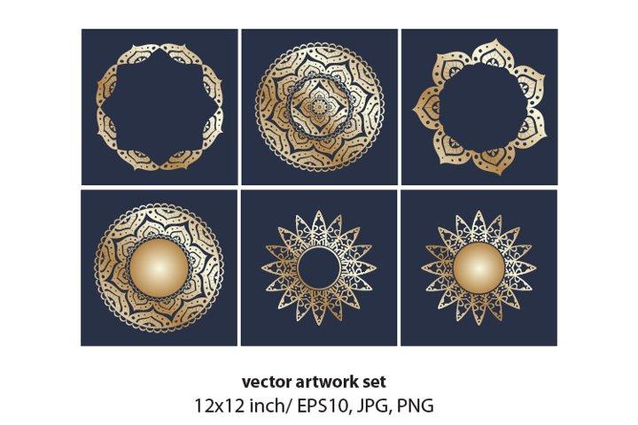 Gold Mandala Set