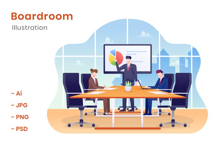 Boardroom Illustration