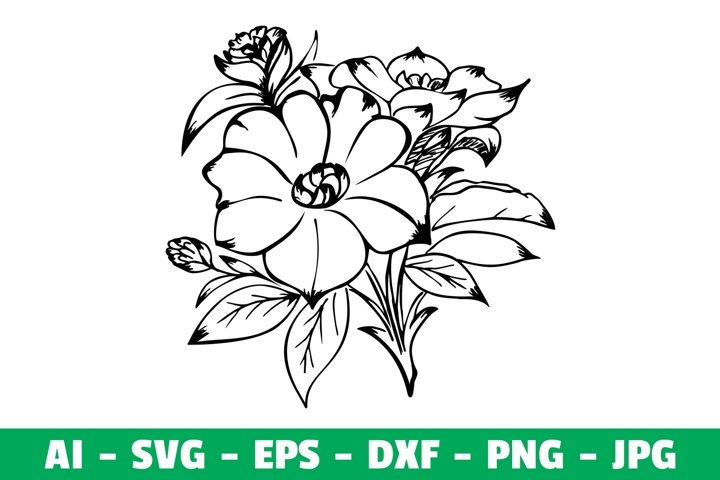 Flowers Clipart Silhouette SVG