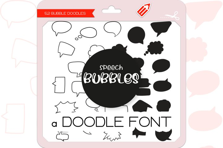 Speech Bubble Doodles - Dingbats Font