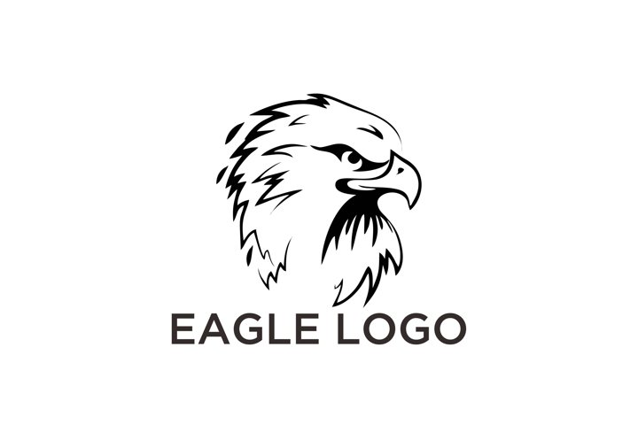 Black and white illustration of American Eagle