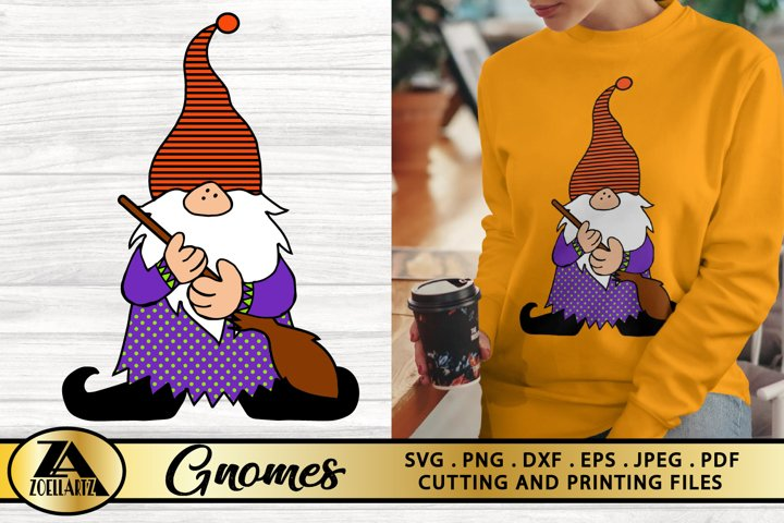 Gnome SVG PNG EPS DXF Halloween Gnomes SVG Witch Gnome SVG