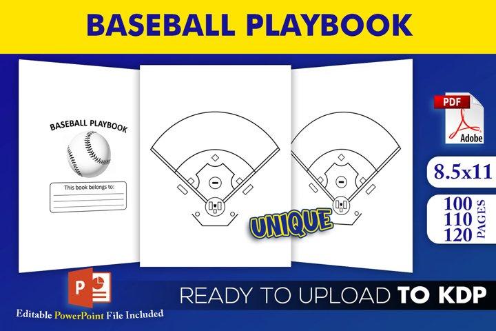 Baseball Playbook - KDP Interior Editable Powerpoint File