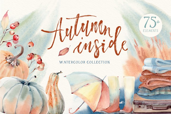 AUTUMN INSIDE Watercolor set