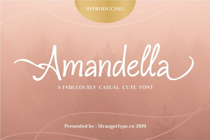 Amandella - Beauty Font