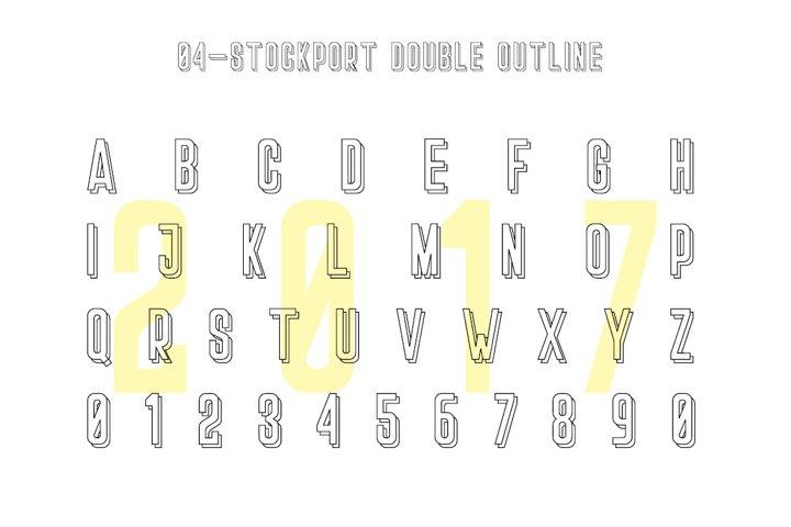 Stockport Font + Bonus Logo example 3
