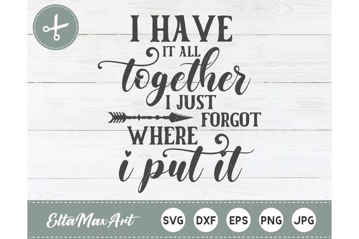 I have it all together i just forgot where i put it SVG,