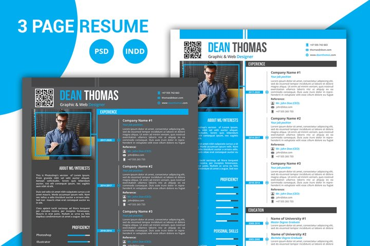 Blue Resume / CV Template