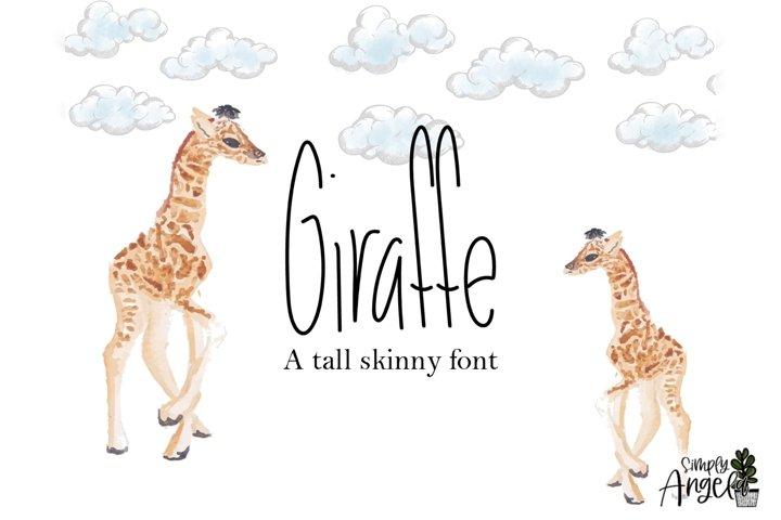 Giraffe - a tall skinny font