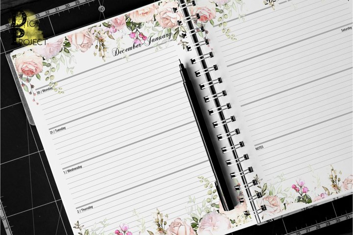 Printable Daily Planner 2020 Letter size Happy Planner size