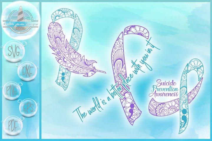 Suicide Prevention Awareness Mandala Bundle SVG