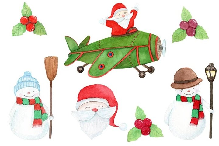 Christmas Santa Claus Clipart Santa Claus Watercolor