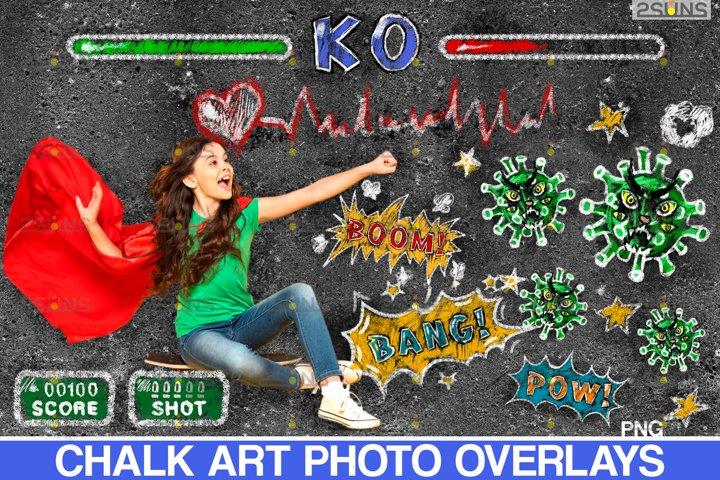 Chalkboard CV clipart Photoshop overlay Chalk art