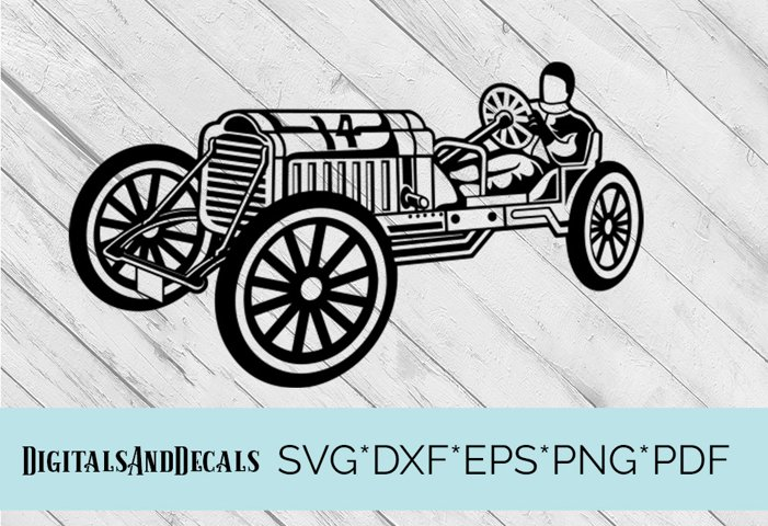Vintage Car SVG Cutting File