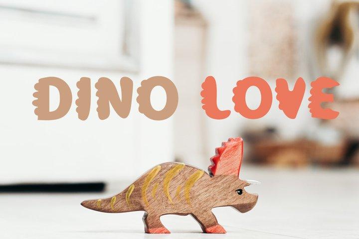 Dino Love - Dinosaur Font