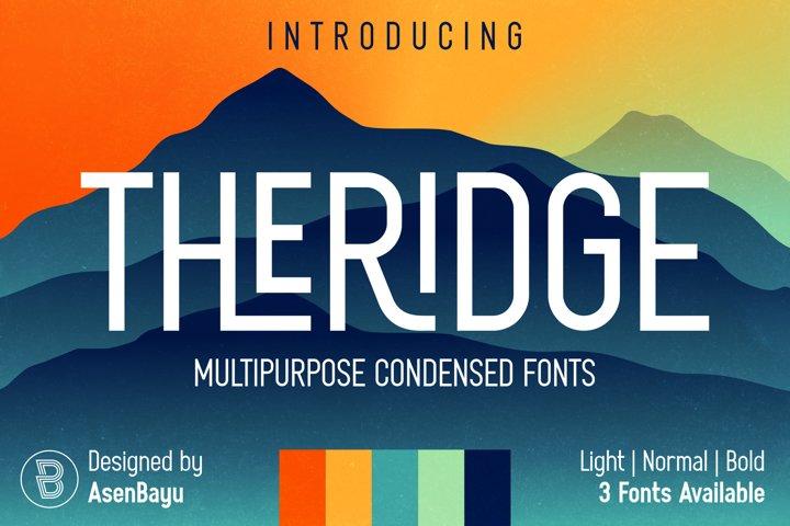 THERIDGE - Multipurpose Condensed Family Fonts