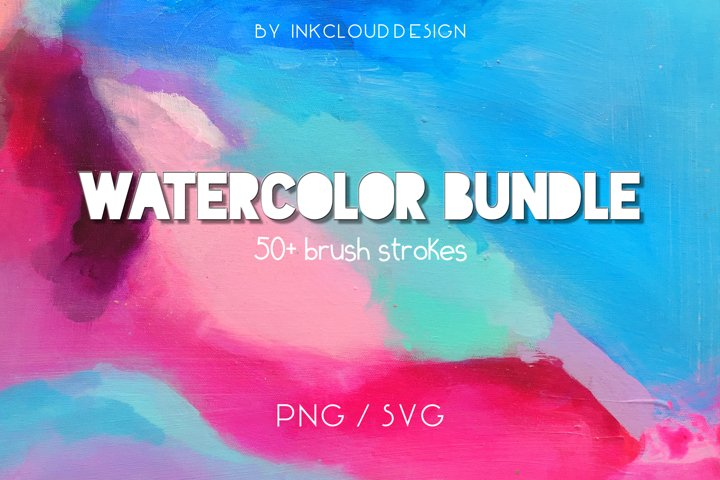 Watercolor Paint Splash |Procreate & Illustrator|PNG SVG