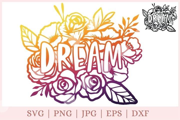 Floral dream svg, motivational svg, good night svg